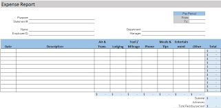 accounting expense report download