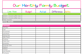 family budget spreadsheet excel download