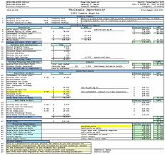 food cost spreadsheet template download