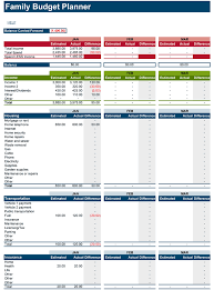 household budget template printable download