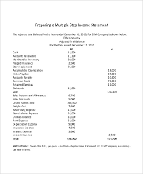 income statement template excel download