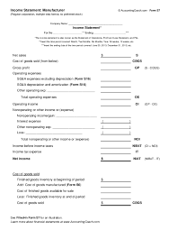 multi step income statement template download