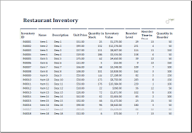 printable food inventory sheets download