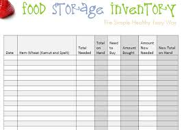 printable inventory sheets for restaurants download