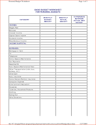 simple budget worksheet download