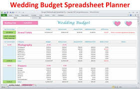 wedding budget spreadsheet planner download