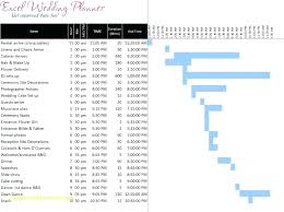 wedding day timeline template excel download