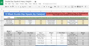 weightlifting training spreadsheet download