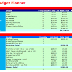 baby budget planner spreadsheet download
