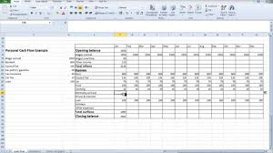 how to create a personal cash flow statement in excel download