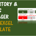 inventory spreadsheet and sales manager free excel template download