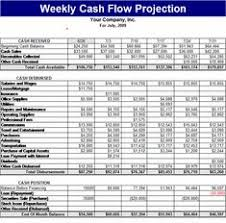 weekly cash flow projection download