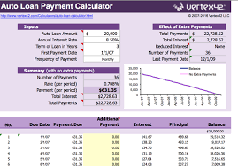 auto loan payment calculator download