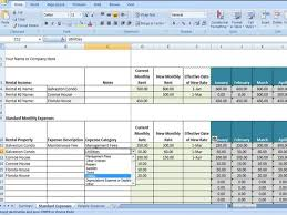 excel templates for property management download