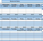 free excel templates for restaurants download