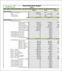 home renovation budget excel spreadsheet download