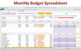 monthly household budget template download