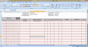 bill of materials template google sheets