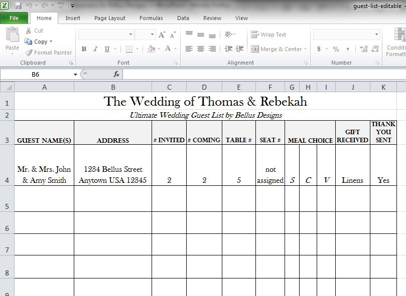 Ultimate Wedding Guest List Tips Guest List Maker Guest List Download