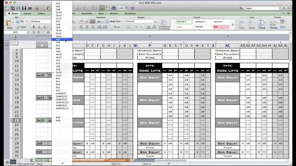 strength training spreadsheet template google sheets weightlifting designs gym spreadsheets