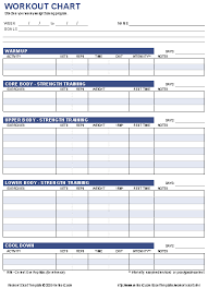 workout log template download