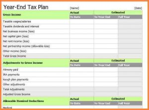 2020 tax planning spreadsheet excel tax return workpapers preparation template year end tax plan